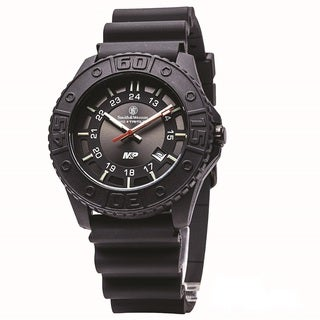 Smith and Wesson MandP Tritium Watch with Black Dial Rubber Band