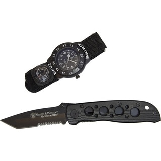 Smith and Wesson Extreme Ops Combo Tactical Knife and Watch