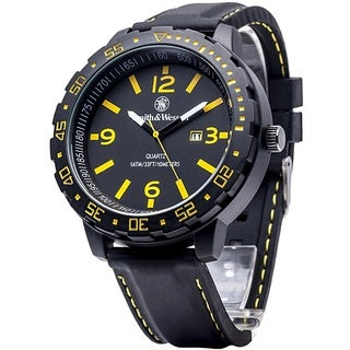 Smith and Wesson EGO Series Watch Black and Yellow Watch