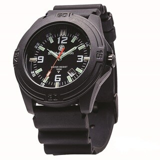 Smith and Wesson Soldier Tritium Black Rubber Strap Watch