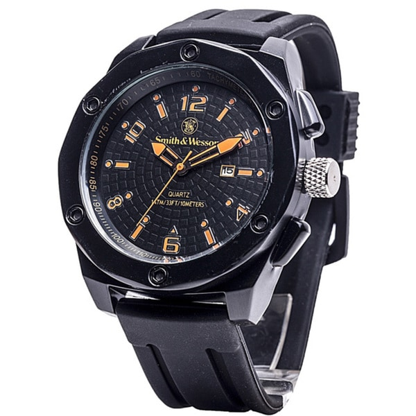 Smith and Wesson EGO Series Watch with Silicon Strap Black