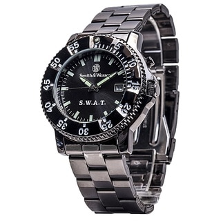 Smith and Wesson SWAT Watch with Black Metal Strap