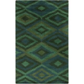 Hand-Knotted Aaliyah Geometric Wool Rug (8' x 11')