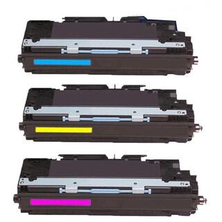 Compatible HP Q2681A Q2682A Q2683A Cyan Magenta Yellow Toner Cartridge HP 3500 3500n 3550 3550n 3700 3700dn (Pack of 3)