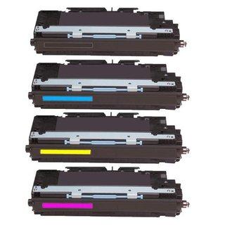 Compatible HP Q2670A Q2671A Q2672A Q2673A Black Cyan Magenta Yellow Toner Cartridge HP 3500 3500n 3550 3550nPack of 4)