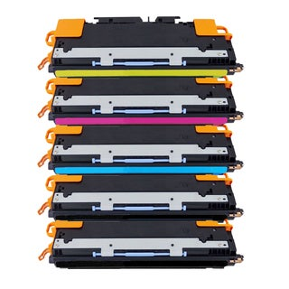 Compatible HP Q2670A Q2671A Q2672A Q2673A Black Cyan Magenta Yellow Toner Cartridge HP 3500 3500n 3550 3550nPack of 5)