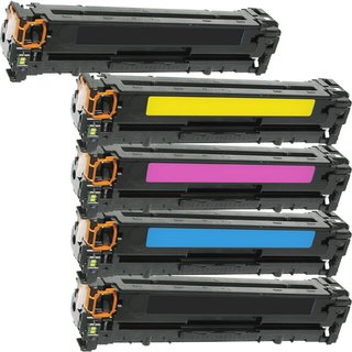 Compatible HP CF380X CF381A CF382A CF383A Black Cyan Magenta Yellow Toner Cartridge HP M476dw MFP M476nw MFP (Pack of 5)