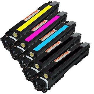 Compatible HP CF350A/ CF351A/ CF352A/ CF353A Toner Cartridge M177fw (2K/C/M/Y) (Pack of 5)