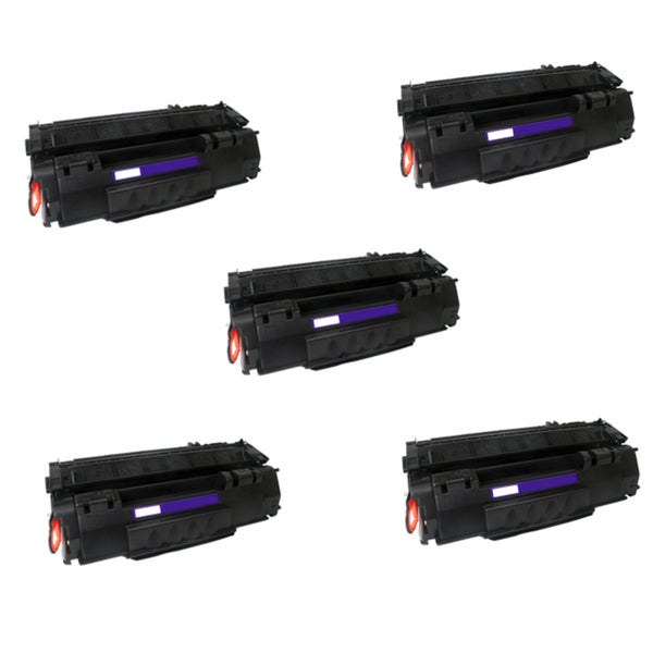 Compatible HP Q5949A (49A) Black Compatible Laser Toner Cartridge 1320 1320N (Pack of 5)