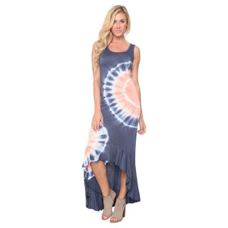 White Mark Women's 'Martina' Tie-Dye Dress