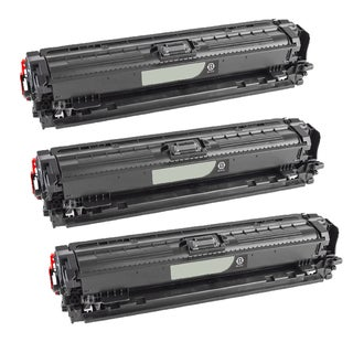 Compatible HP CE740A Black Toner Cartridge CP5225/CE5225NCP5225DN (Pack of 3)