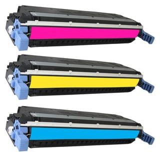 HP Q7581A Q7582A Q7583A Toner Cyan Yellow Magenta Compatible Toner Cartridge 3800 3800N CP3505dn CP3505n CP3505x (Pack of 3)