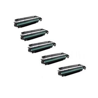 Compatible HP CE340A Black Toner Cartridge MFP M775dn MFP M775 f MFP M775z MFP M775z Plus (Pack of 5)