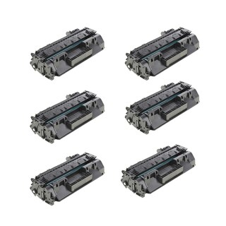 HP CF280X 80X Compatible Black Toner Cartridge 400 M401dn 400 M401dne 400 M401dw 400 M401n 400 M425dn (Pack of 6)
