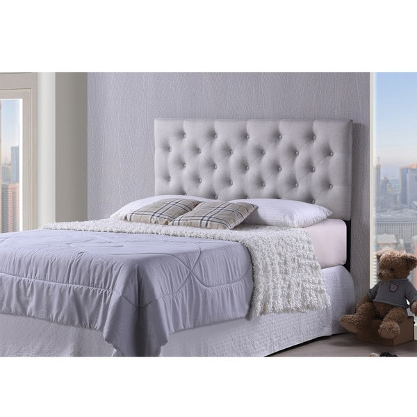 Viviana Modern and Contemporary Full/Queen Size Light Beige Upholstered Button-tufted Headboard