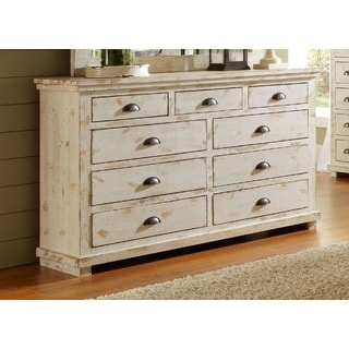 Willow Distressed White Drawer Dresser