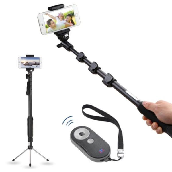 Insten 3-in-1 Selfie Stick Monopod Kit with Handheld Tripod Stand Bluetooth Remote Shutter for Apple iPhone 6/ 6+/ Android Phone