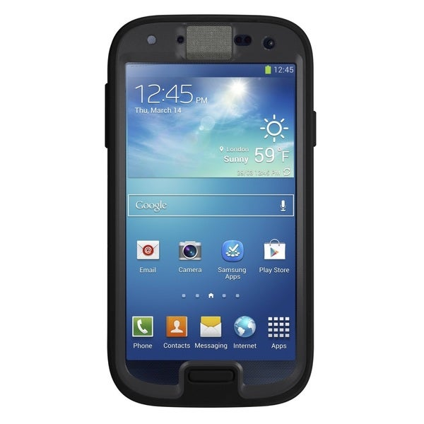 Samsung Galaxy S4 I9500 16GB Unlocked GSM Phone Black + OtterBox Preserver S4 Case