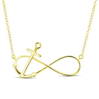 Goldplated Sterling Silver Infinity Anchor 18-inch Necklace