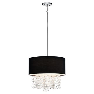 Kichler Lighting Contemporary 4-light Chrome Pendant Black Shade