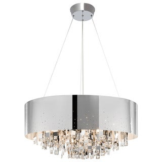 Kichler Lighting Vallo Collection 12-light Chrome Round Chandelier Chrome Shade