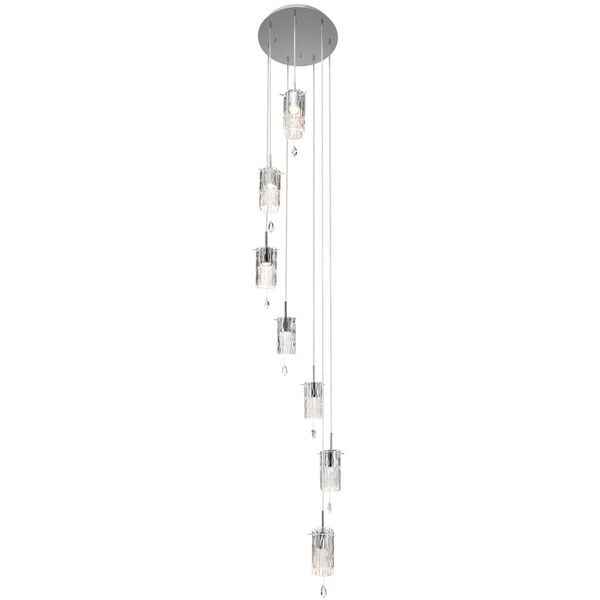 Kichler Lighting Linnett Collection 7-light Chrome Chandelier/Pendant Cluster