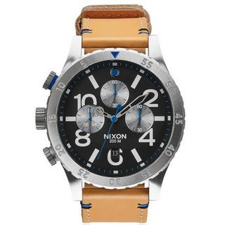 Nixon Men's A3631602-00 The 48-20 Chrono Brown Leather Watch 48mm