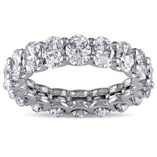 Miadora 19k White Gold 4 3/5ct TDW Diamond Eternity Ring (H-I,VS1-VS2)