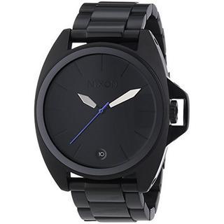 Nixon Men's A396001-00 The Anthem Black Stainless Steel Quartz Watch 43mm