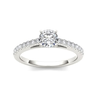 De Couer 14k White Gold 1ct TDW Diamond Exquisite Engagement Ring (H-I, I2)