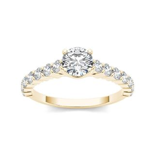 De Couer 14k Yellow Gold 1 3/4ct TDW Diamond Classic Engagement Ring (H-I, I2)