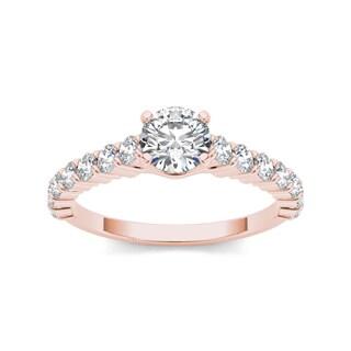 De Couer 14k Rose Gold 1 3/4ct TDW Diamond Classic Engagement Ring (H-I, I2)
