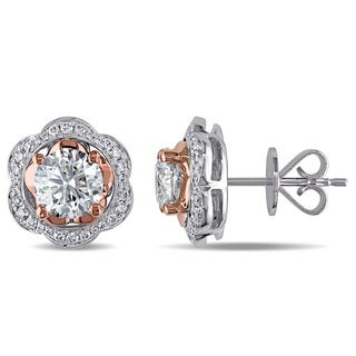 Miadora Signature Collection 14k Two-Tone Gold and 2 3/8ct TDW Diamond Earrings (G-H,I1-I2)
