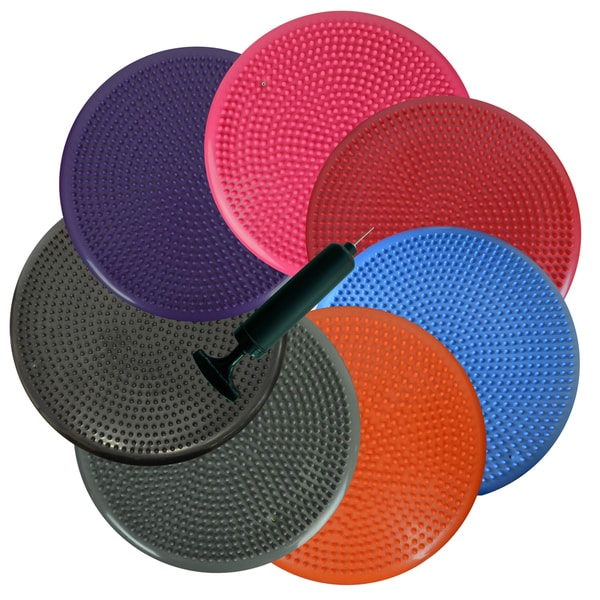 Bintiva Inflated Stability Wobble Cushion - Exercise Fitness Core Balance Disc