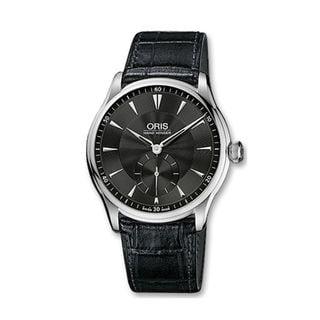 Oris Men's 39675804054LS 'Artelier' Hand Winding Black Leather Watch