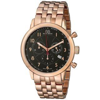 Rue Du Rhone Men's 87WA120049 'Double 8' Chronograph Rose-Tone Stainless Steel Watch