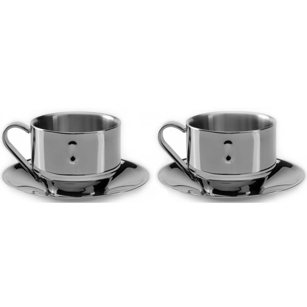 BergHOFF Straight 3-ounce Cappuccino Cup and Saucer (Set of 2)