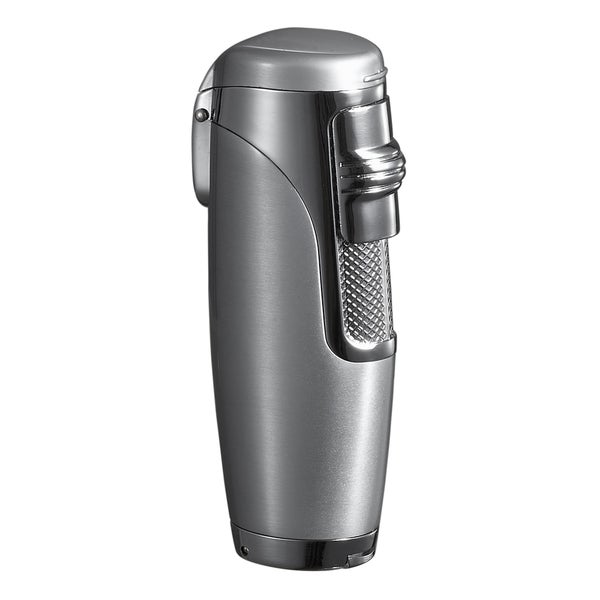 Visol Triad Triple Jet Flame Cigar Lighter - Silver - Ships Degassed