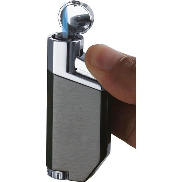 Visol PortofiNo Gun Satin Wind-Resistant Torch Flame Lighter