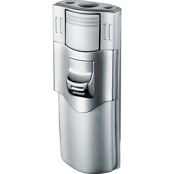 Visol Phantom Double Jet Flame Cigar Lighter - Matte Chrome