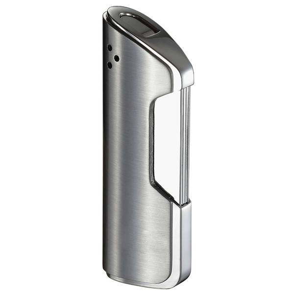 Visol Pulsante Brushed Chrome Wind-Resistant Torch Flame Lighter