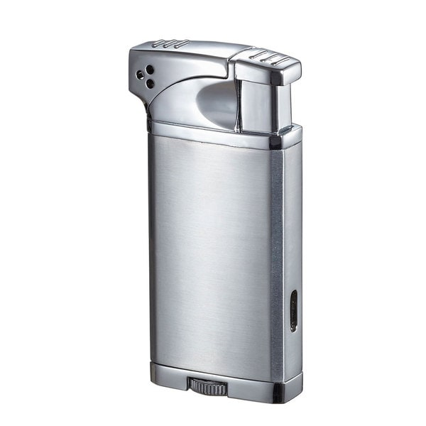 Visol Coppia All-in-One Cigar, Cigarette, and Pipe Lighter - Chrome - Ships Degassed