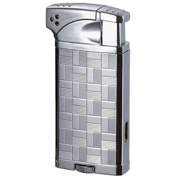 Visol Coppia All-in-One Polished Chrome Cigar, Cigarette and Pipe Lighter