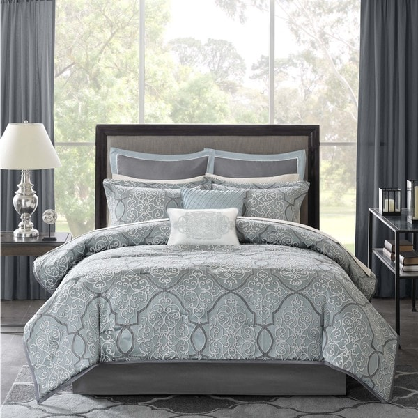 Madison Park Anouk Jacquard 12-Piece Bed in a Bag Set In Queen (As Is Item)