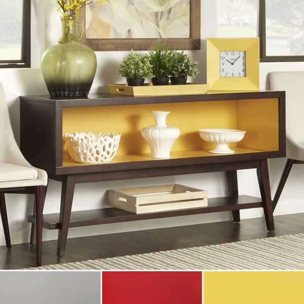 INSPIRE Q Sasha Angled Leg Open Shelf Console Table