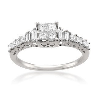 14k White Gold 3/4ct TDW White Diamond Composite-Set Engagement Ring (H-I, I1-I2)
