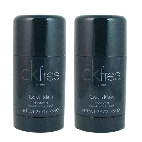 Calvin Klein CK Free Men's 2.6-ounce Deodorant Stick (Pack of 2)