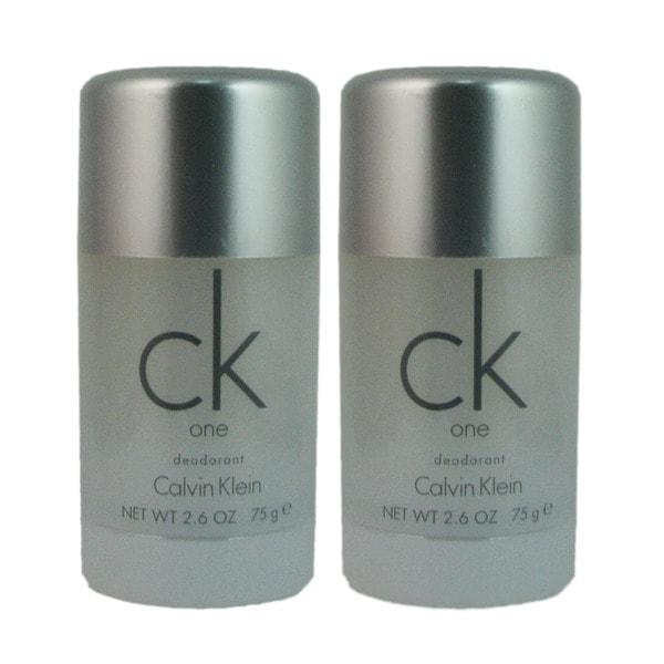 CK One by Calvin Klein Unisex 2.6-ounce Deodorant (Pack of 2)