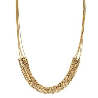 Fremada 14k Yellow Gold Stylish Liquid Gold Rolo Necklace