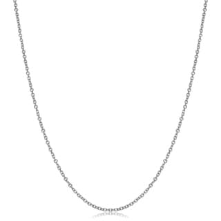 Fremada 14k White Gold 1.5-mm Cable Chain (16 - 24 inches)